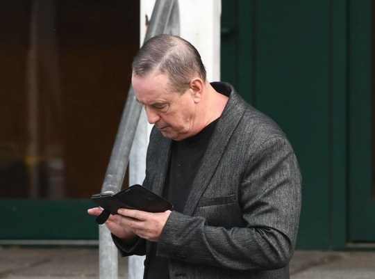 Christopher Fallon, 71, leaves Plymouth Crown Court.