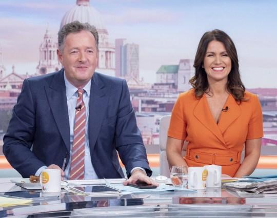 Piers Morgan Susanna Reid Good Morning Britain