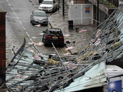 Winds rip roof off block of flats as Storm Brendan batters UK