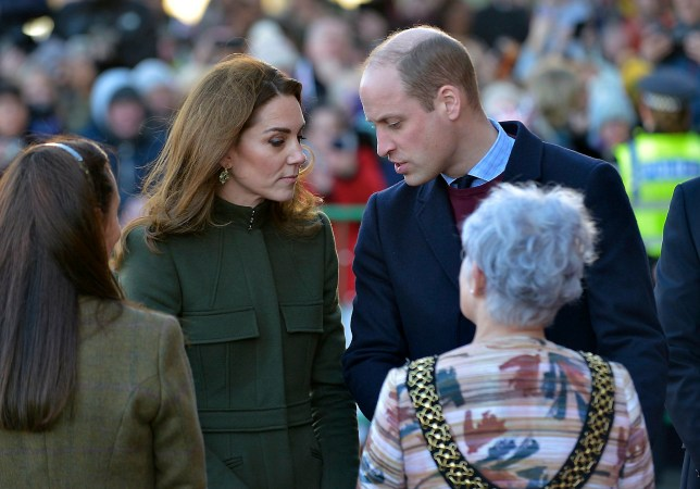 The Duke and Duchess of Cambridge arrive at Bradford City Hall, West Yorks., to hear about life in Bradford from young locals, January 15, 2020. The royal couple will visit a number of projects which support the community and promote cohesion in one of the UK's most diverse cities.