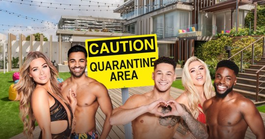 Love Island villa in quarantine Getty - ITV - Rex