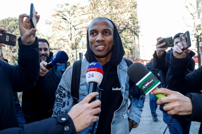 epa08135651 New Inter Milan player Ashley Young smiles upon his arrival at the Coni (Italian Olympic Committee) office in Milan for medical tests prior to his signing for Inter Milan, Italy, 17 January 2020. EPA/Maurizio Maule