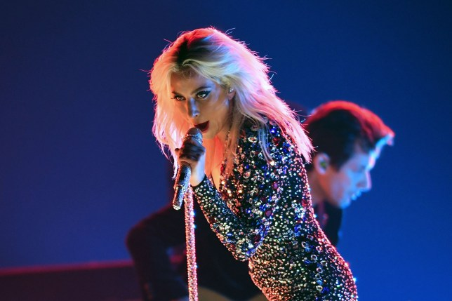US singer-songwriter Lady Gaga performs onstage during the 61st Annual Grammy Awards on February 10, 2019, in Los Angeles. (Photo by Robyn Beck / AFP) (Photo credit should read ROBYN BECK/AFP via Getty Images)