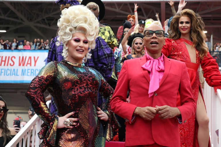 LONDON, ENGLAND - JANUARY 18: The Vivienne and RuPaul attend RuPaul's DragCon UK 2020 at Olympia London on January 18, 2020 in London, England. (Photo by Lia Toby/Getty Images)