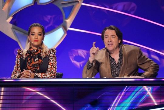 Rita Ora and Jonathan Ross