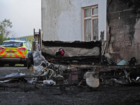 Boy, 3, dies in caravan blaze with brother, 4, left fighting for life