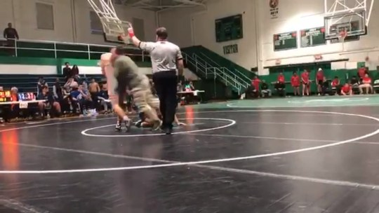 KANNAPOLIS, N.C. (WGHP) - A father was arrested and charged after he rushed and tackled a high school wrestler during a match, according to a Kannapolis Police Department news release. Barry Lee Jones, of Harrisburg, was arrested on Saturday. He was charged with simple assault and disorderly conduct. The teen he tackled was from Southeast Guilford High School and was wrestling Jones' son, who is a student from Hickory Ridge High School, the release says.