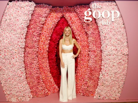Gwyneth Paltrow promotes her new Netflix show by posing in front of floral vagina, because of course she does