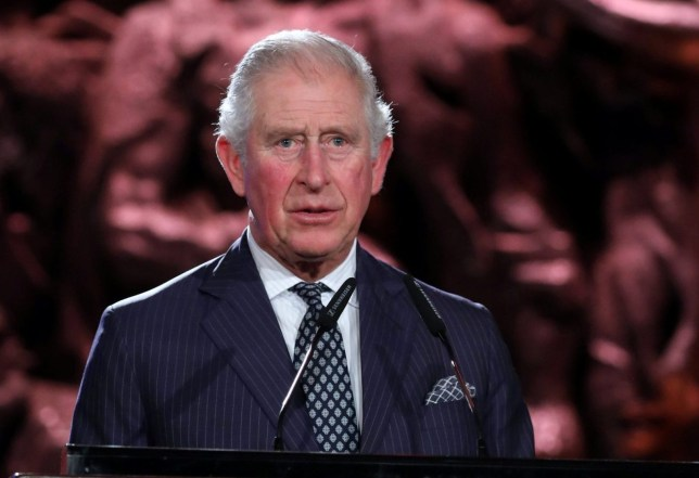 Britain's Prince Charles speaks during the Fifth World Holocaust Forum at the Yad Vashem Holocaust memorial museum in Jerusalem, January 23, 2020. Abir Sultan/Pool via REUTERS