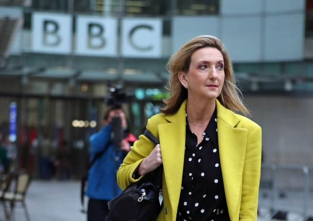 Presenter Victoria Derbyshire leaves BBC Broadcasting House in London, after it was announced that her TV programme is being taken off air. PA Photo. Picture date: Thursday January 23, 2020. The presenter's daily BBC Two current affairs show is being pulled from the schedule as a result of cuts at the corporation. See PA story SHOWBIZ Derbyshire. Photo credit should read: Yui Mok/PA Wire
