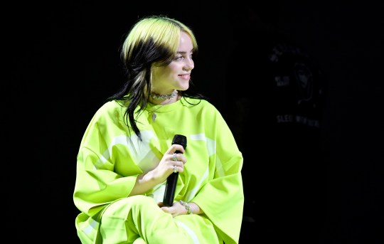 """LOS ANGELES, CALIFORNIA - JANUARY 23: Billie Eilish performs onstage at Spotify Hosts """"Best New Artist"""" Party at The Lot Studios on January 23, 2020 in Los Angeles, California. (Photo by Frazer Harrison/Getty Images for Spotify)"""