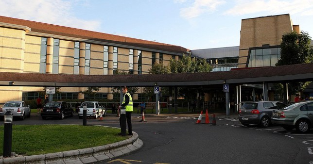 The exterior of Tallaght Hospital where a young woman has died from swine flu. It is the first reported death in the Irish Republic health officials confirmed. The woman is said to have suffered from an underlying medical condition.