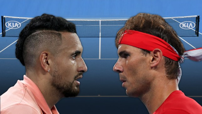 Nick Kyrgios and Rafael Nadal ahead of their Australian Open fourth-round clash on Monday