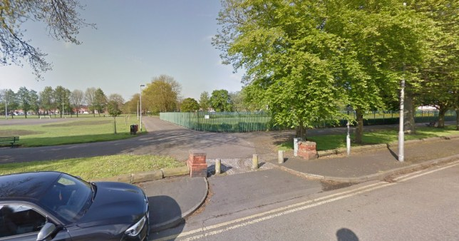 Children's play park on lockdown after 'dead body' discovered queens park st helens Picture: Google Maps