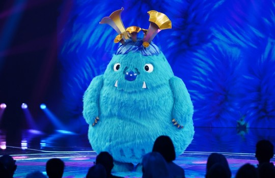 This image is strictly embargoed until 00.01 Friday 24th January 2020 From Bandicoot TV The Masked Singer: Ep5 on ITV Pictured: Monster. This photograph is (C) Bandicoot TV and can only be reproduced for editorial purposes directly in connection with the programme or event mentioned above, or ITV plc. Once made available by ITV plc Picture Desk, this photograph can be reproduced once only up until the transmission [TX] date and no reproduction fee will be charged. Any subsequent usage may incur a fee. This photograph must not be manipulated [excluding basic cropping] in a manner which alters the visual appearance of the person photographed deemed detrimental or inappropriate by ITV plc Picture Desk. This photograph must not be syndicated to any other company, publication or website, or permanently archived, without the express written permission of ITV Picture Desk. Full Terms and conditions are available on the website www.itv.com/presscentre/itvpictures/terms For further information please contact: james.hilder@itv.com / 0207 157 3052