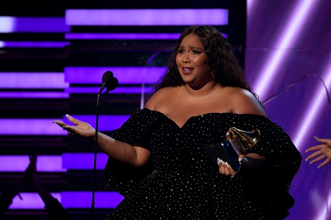 LOS ANGELES, CALIFORNIA - JANUARY 26: Lizzo accepts Best Pop Solo Performance for 'Truth Hurts' onstage during the 62nd Annual GRAMMY Awards at Staples Center on January 26, 2020 in Los Angeles, California. (Photo by Kevork Djansezian/Getty Images)