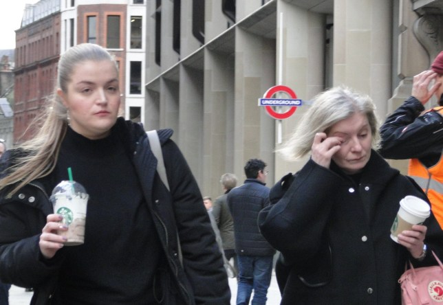 Sophia Elsden, 25 and Rnata Regin, 50 outside City of London Magistrates Court. Mother and daughter beauty therapists attacked a woman travelling with her two young girls on a packed tube after one of the youngsters grabbed the only available seat, a court heard. Renata Regin, 50 and Sophia Elsden, 25, had just finished work in Sloane Square and turned on the 35 year-old mum, whose head was bashed against a metal hand rail, the trial was told.