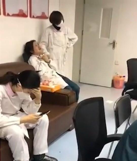 Coronavirus doctors crying