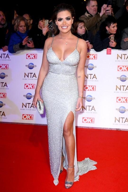 Megan Barton-Hanson attending the National Television Awards 2020 held at the O2 Arena, London. Photo credit should read: Doug Peters/EMPICS