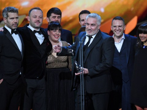 Paul Hollywood snubs Sandi Tokvig at National Television Awards as he takes to the stage on his own