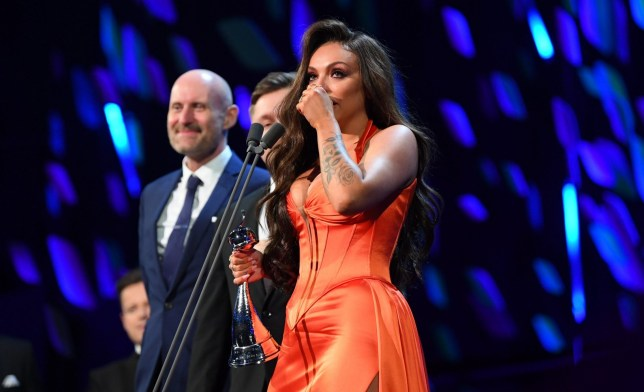 EXCLUSIVE - Premium Rates Apply. Please call your account manager for pricing. Mandatory Credit: Photo by David Fisher/REX (10537883y) Jesy Nelson - Factual Entertainment - Odd One Out Exclusive - 25th National Television Awards, Show, O2, London, UK - 28 Jan 2020