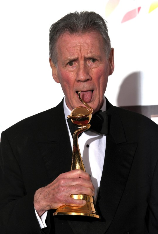 Mandatory Credit: Photo by Anthony Harvey/REX (10537889bs) Michael Palin - Special Recognition 25th National Television Awards, Press Room, O2, London, UK - 28 Jan 2020