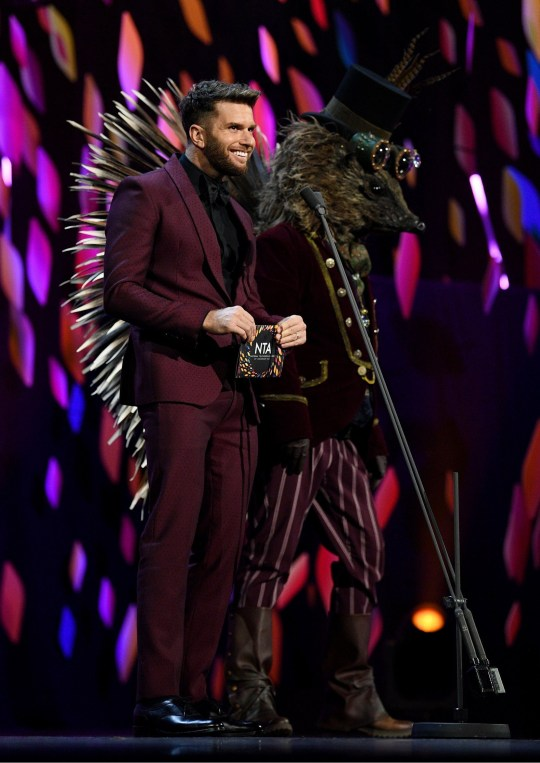 Joel Dommett at the National Television Awards