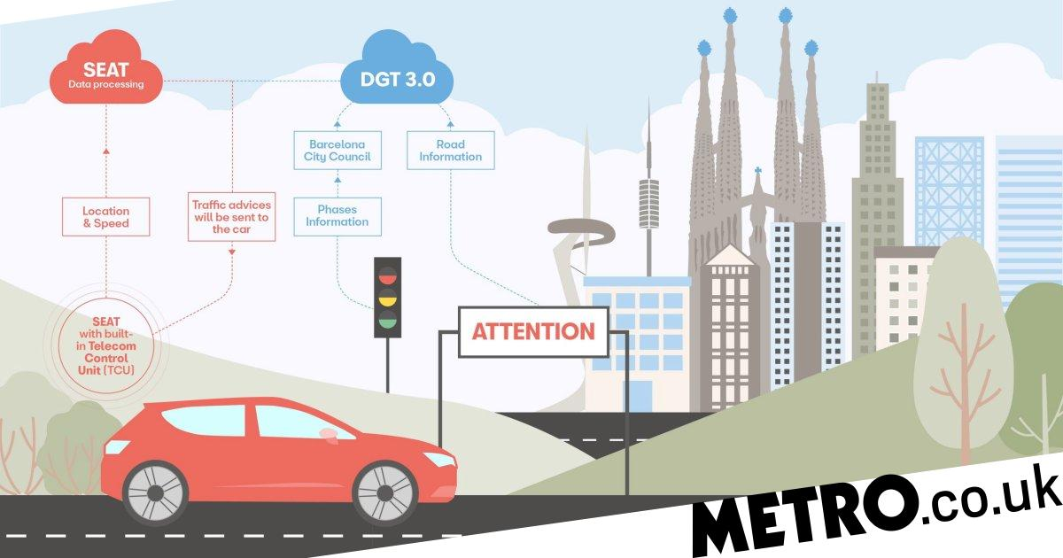 Car that 'talks' to traffic lights reveals hyper-connnected future of driving