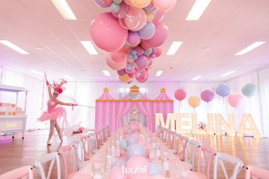 7945123 Mediterranean catering, a carnival entertainer and rides: Mother spends two months and $20,000 perfecting her seven-year-old daughter's birthday party