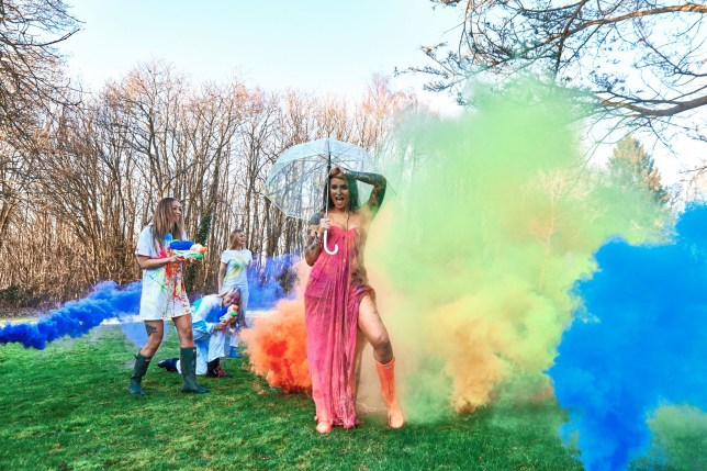 """Anna O'Neill gave six pals water pistols filled with paint and coloured flares so they could completely ruin her pink Alexander McQueen dress. See National story NNdressing; A mum has celebrated her divorce getting her pals to help her trash her designer wedding dress in a huge paint fight. Anna O'Neill gave six pals water pistols filled with paint and coloured flares so they could completely ruin her pink Alexander McQueen dress - the same designer Kate Middleton wore on her wedding day. The 41-year-old decided on the madcap scheme to celebrate separating from her second husband, after they rushed into things. She married her second husband in an intimate ceremony on a beach in Antigua, following a whirlwind romance but just after having a baby, the marriage broke down and left her reeling. Anna, who's first husband died, took the outlandish step of ruining the special garment to send a positive message to other women going through hard times. She said: """"We met locally and it was quite rushed. """"We met, moved in together, then got married in July 2017."""" She bought a pink, Alexander McQueen wedding dress for ??1,200 while on a trip to London with her son. The former model, who is now a stay-at-home mum with one grandchild, said: """"I know it's not traditional, but I thought it's not going to be a traditional wedding and I loved the dress, so we bought it."""