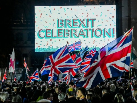 Two arrested at Brexit celebrations as parties kick off in central London