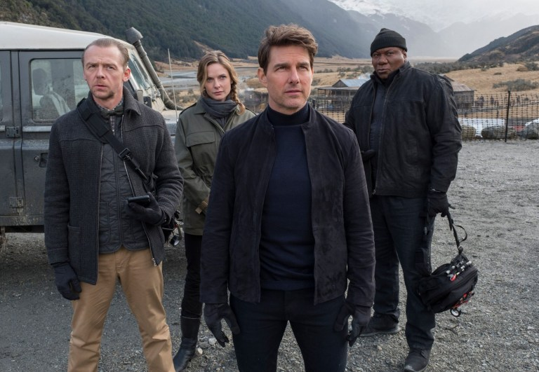 Tom Cruise with Mission: Impossible cast
