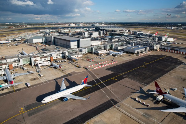 LONDON, ENGLAND - OCTOBER 11: A general view of Heathrow Airport on October 11, 2016 in <a href=