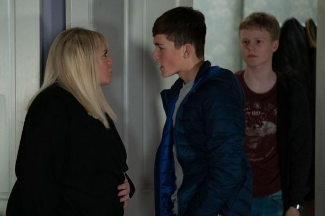 Bobby, Sharon and Dennis in EastEnders