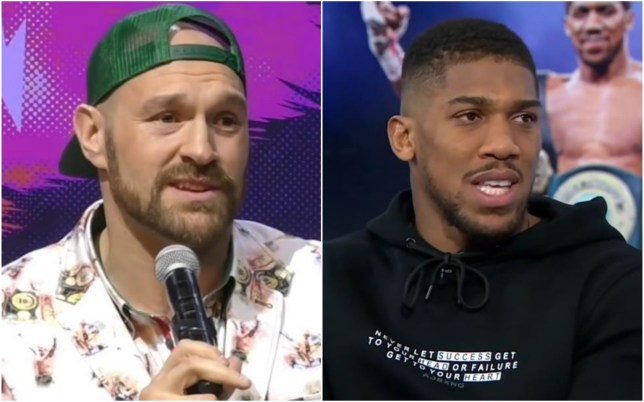 Tyson Fury has hit out at Anthony Joshua