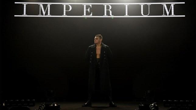 wrestler WALTER makes his entrance