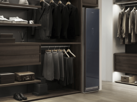 Samsung unveils wardrobe of the future that will dry clean your clothes