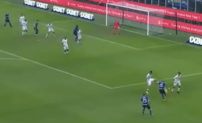 Ashley Young swung in a perfect cross for Lautaro Martinez on his Inter Milan debut