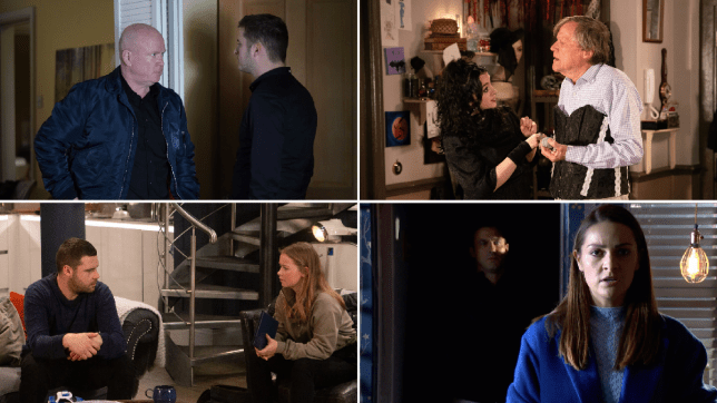 Ben and Phil in EastEnders, Nina and Roy in Coronation Street, Liv and Aaron in Emmerdale and Sienna an Warren in Hollyoaks