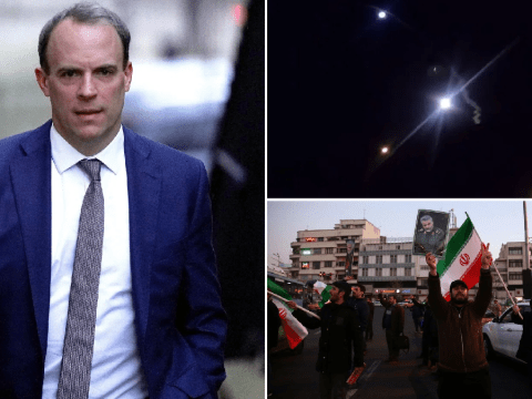Britain condemns missile strikes and urges Iran 'don't repeat these reckless attacks'