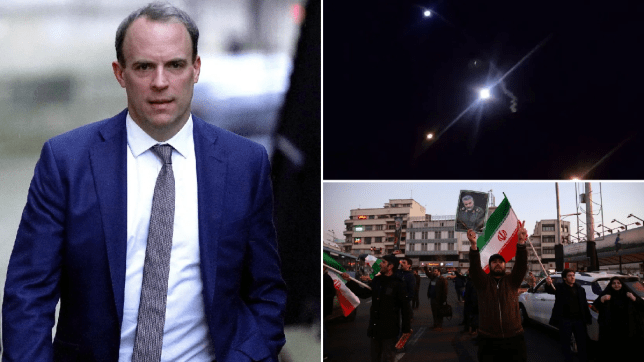 Dominic Raab/ Iranian missile strike on coalition military forces in Iraq