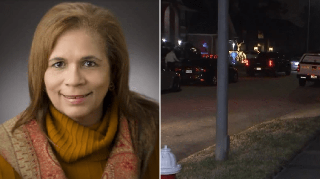 File photo of Philippa Ashford next to photo of street where she was killed
