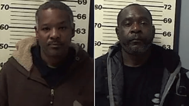Mugshots of Russell Sparks and Otis Latham