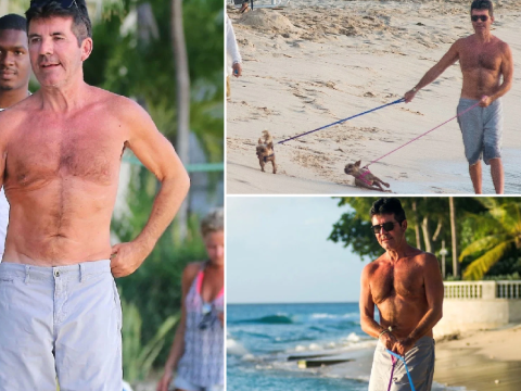 Simon Cowell enjoys beach day with beloved dogs in Barbados after doubling down on cloning plans
