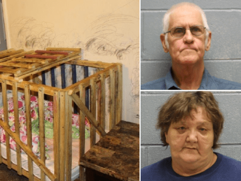 Grandparents 'kept toddlers locked up in tiny wooden cages'