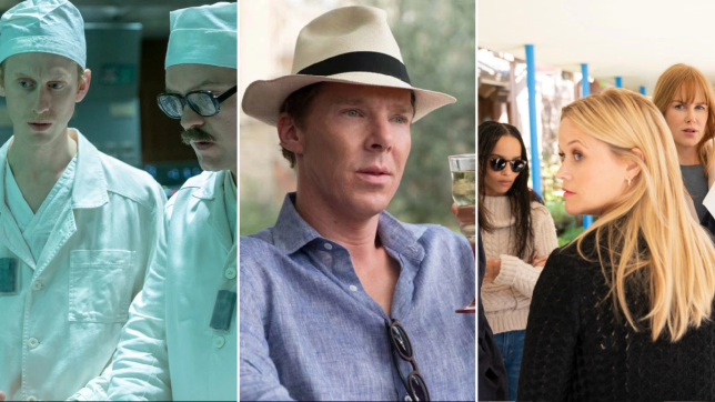 Image stills from Chernobyl, Patrick Melrose and Big Little Lies