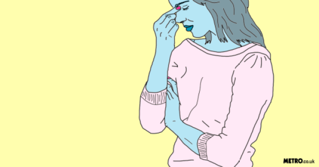Illustration of a woman looking worried