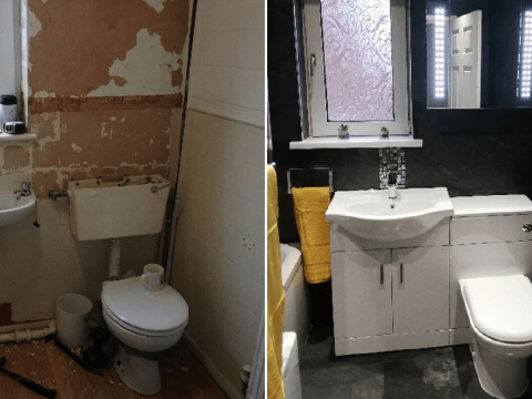 Mum saves £1,100 on bathroom transformation by shopping on Ebay and Amazon