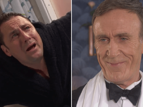 Hollyoaks spoilers: Horror for Tony Hutchinson as evil dad Edward takes him back to the pig farm