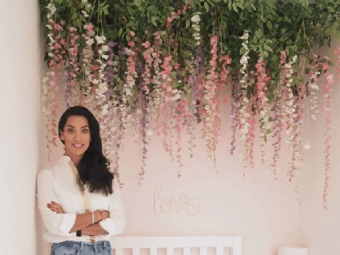Mum creates stunning hanging flower canopy for her daughter's bedroom for £81
